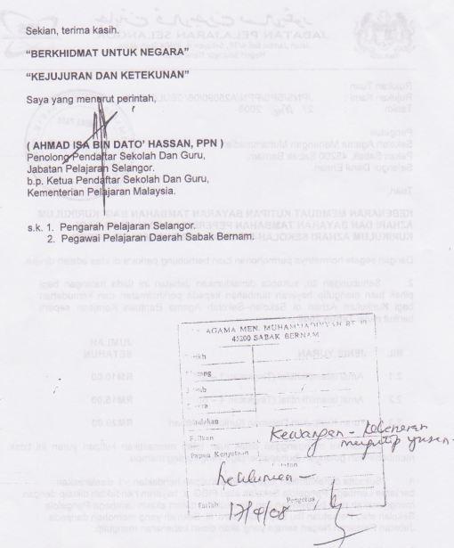 Sila ambil perhatian surat rasmi JPS ini